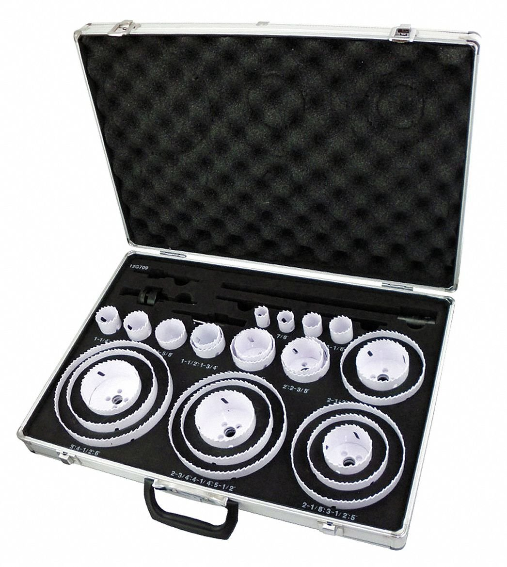 30-Piece Hole Saw Kit for Metal, Range of Saw Sizes: 3/4'' to 6''