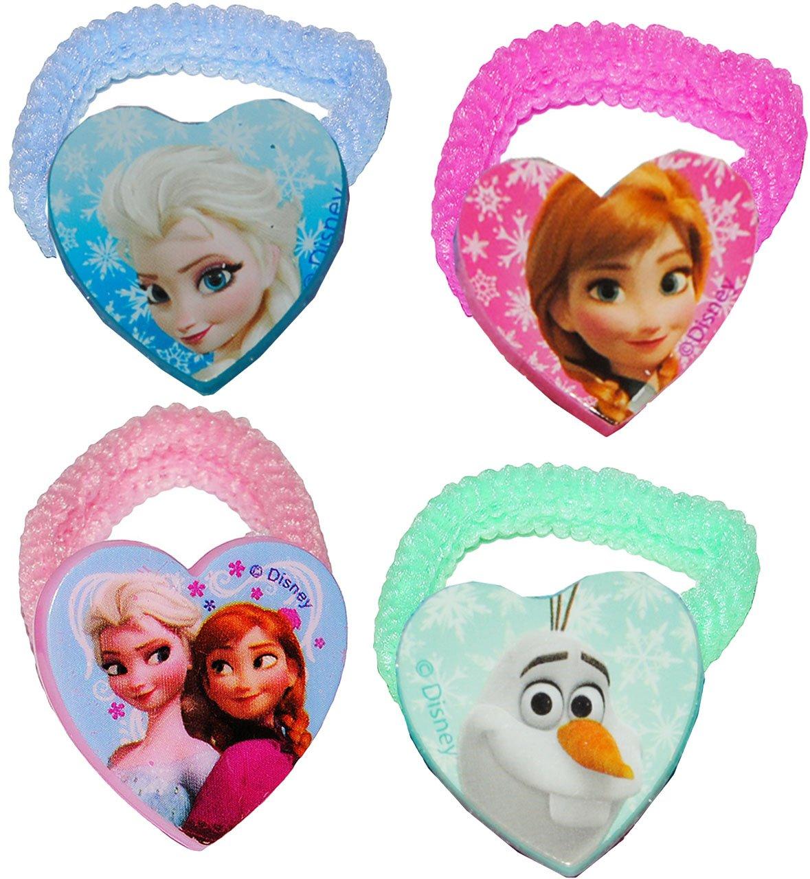 Z/öpfchenhalter Disney die Eisk/önigin Set Haargummis Kinderhaarschmuck Haarschmuck f/ür Kinder M/ädchen Schmuck Zopfgummi Frozen M.. alles-meine.de GmbH 3 * 4 TLG