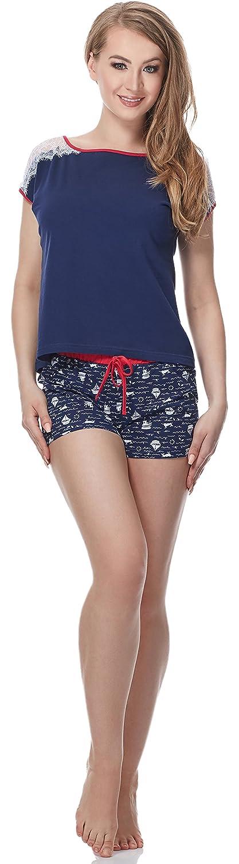 Merry Style Pigiama Donna Corto MS10-135