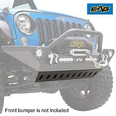 EAG Skid Plate Fit for Bumper JJKFB001 / JJKFB036 Fit for 07-18 Jeep Wrangler JK: Automotive