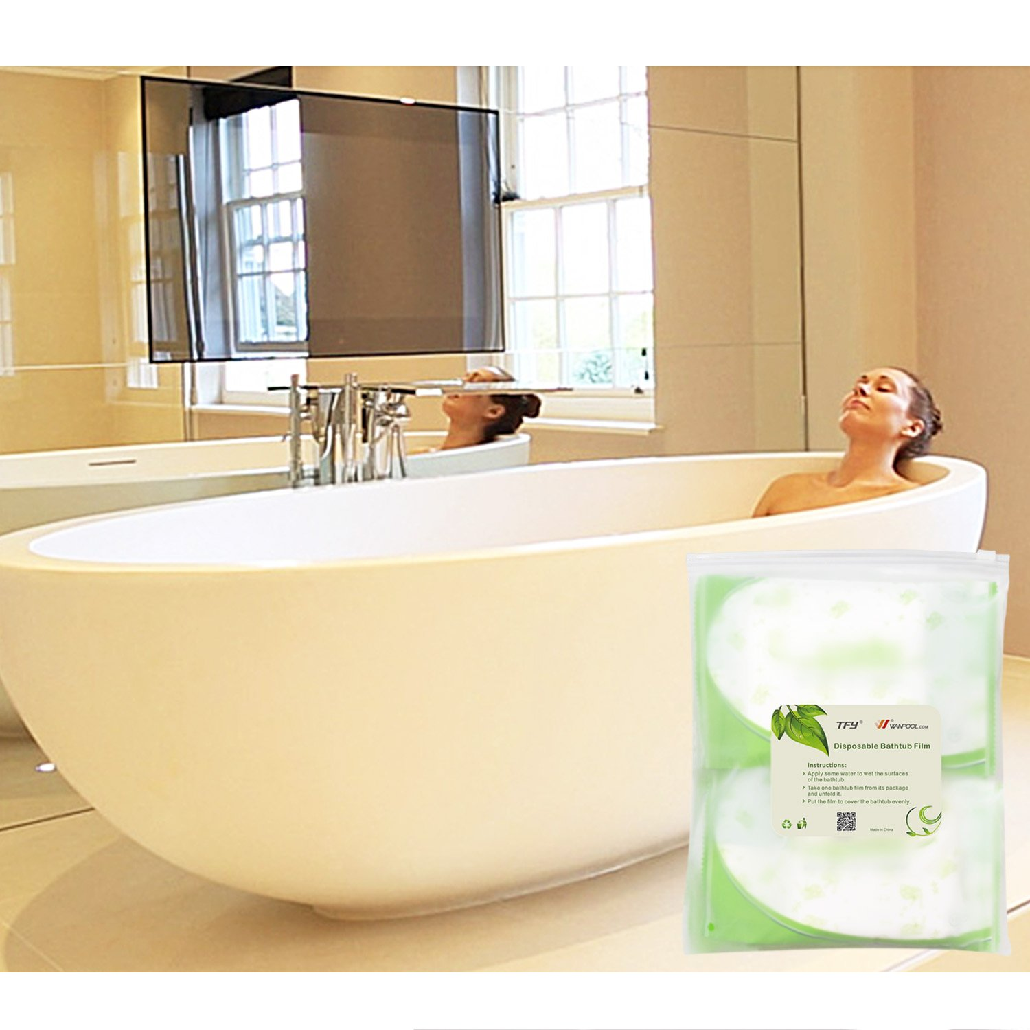 Amazon.com : TFY Ultra Large Disposable Film Bathtub Bag for Salon ...