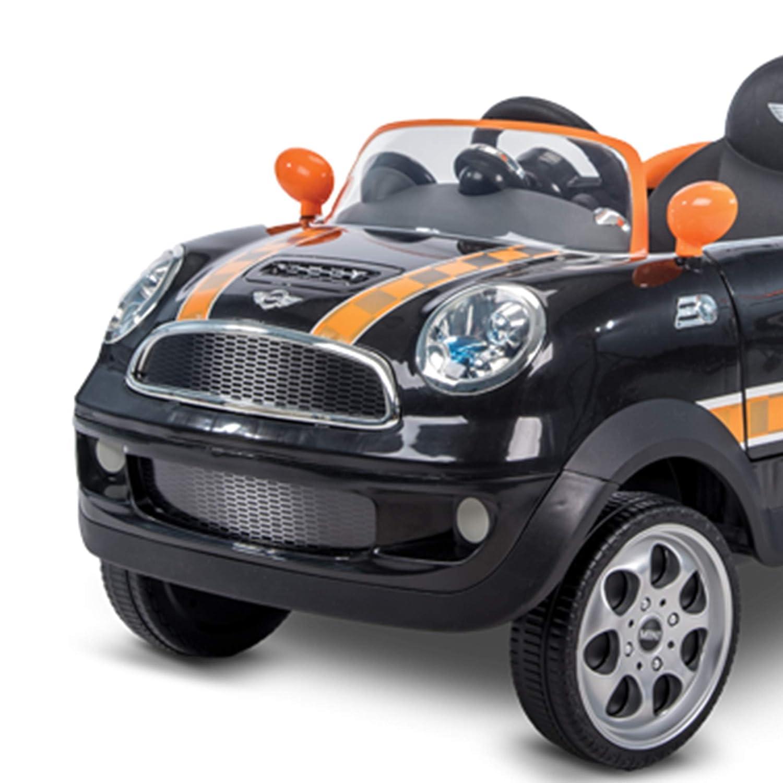 Huffy Mini Cooper for Kids Ride On Car W/ Push Stroller, Black