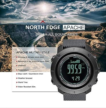 MDBLYJ Reloj Inteligente, Reloj de Buceo de Alta presión Reloj Multifuncional Deportes al Aire Libre Pulsera Inteligente con brújula 3D Podómetro para ...