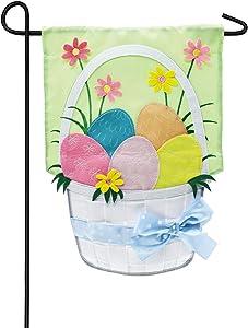 Easter Basket Garden Applique Flag - 13 x 1 x 18 Inches