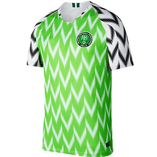2018 New Season Nigeria Home Soccer Jersey National Jersey White Green (S) 1935bbc49