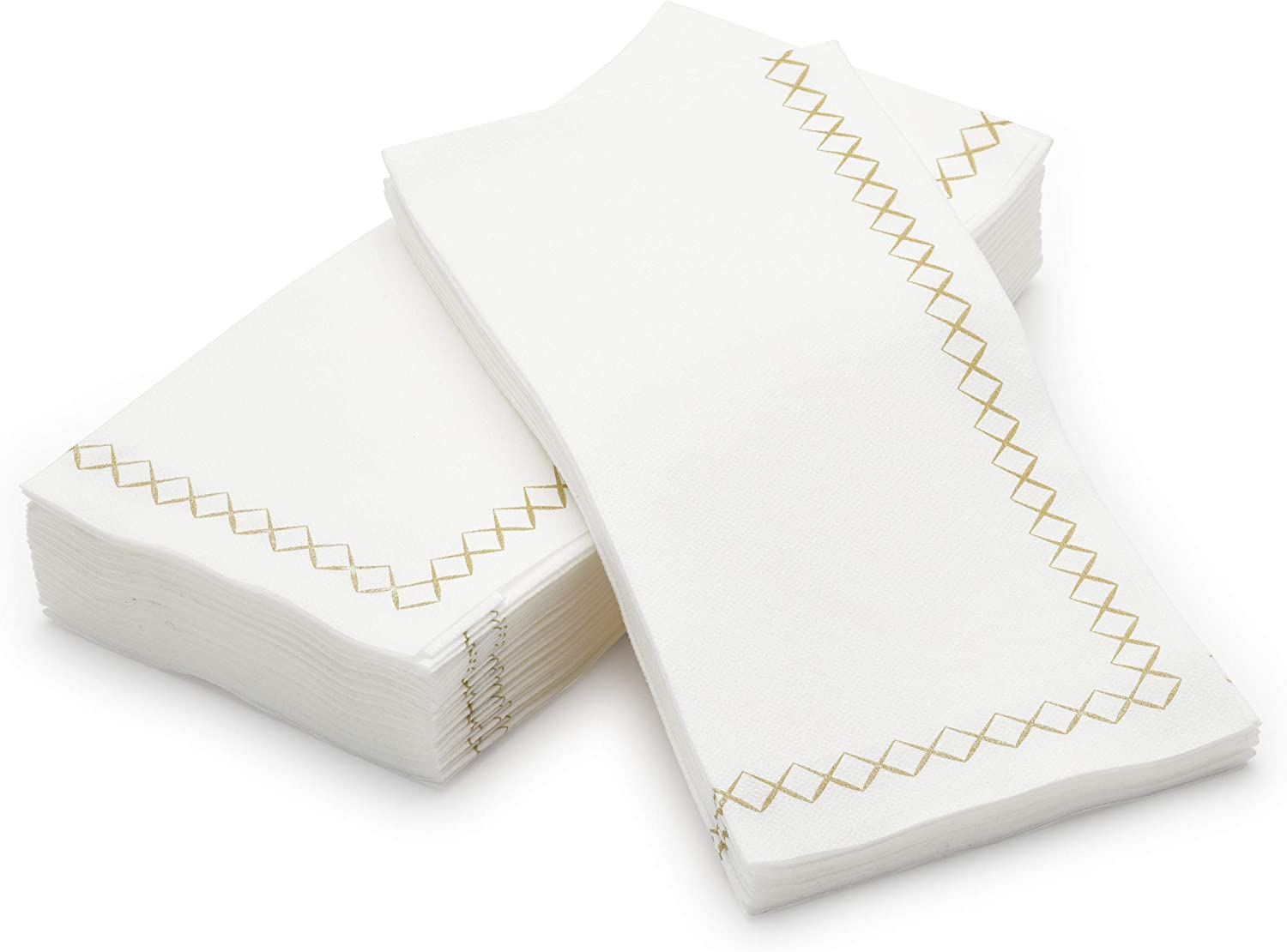 Gold Napkins Paper Hand Towels For Guest Bathroom 100 Pack Linen-Feel Dinner Party Napkins Decorative By Madee Disposable Fancy Napkins Great for Weddings Events /& Dinner Party
