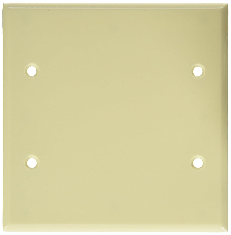 Leviton 84025 2-Gang No Device Blank Wallplate, Standard Size, Box ...