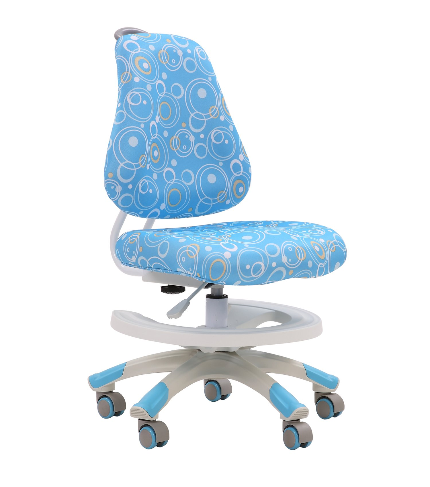 Chirldren Desk Chair, Big Baby Height Control Adjustable Seat Slideable Study Seats Petite Size Adults Office Pulley Chairs, Blue