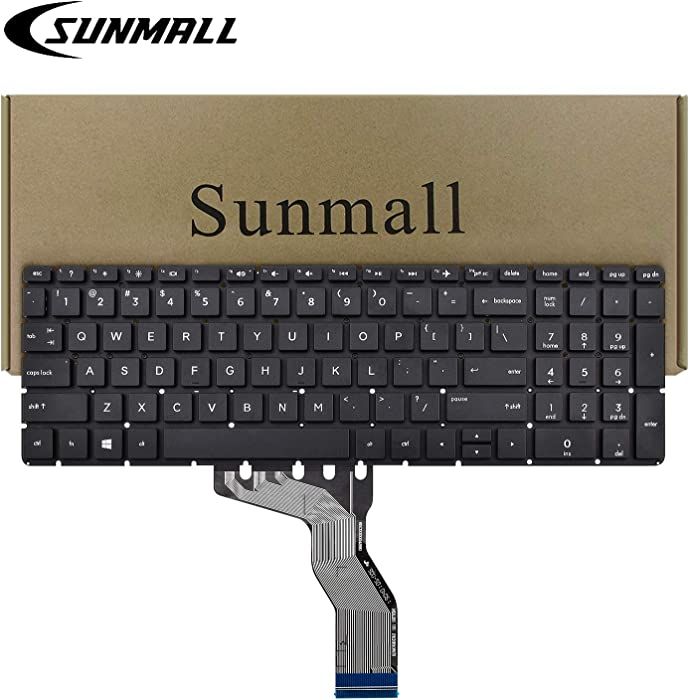 SUNMALL Replacement Keyboard Compatible with HP 15-BS 15-BP 15-BR 15-BW 15G-BR 15Q-BD 15Z-BW 17G-BR 15-RA 15-RB 17-BS 17-AK 250 G6 255 G6 256 G6 Series Laptop