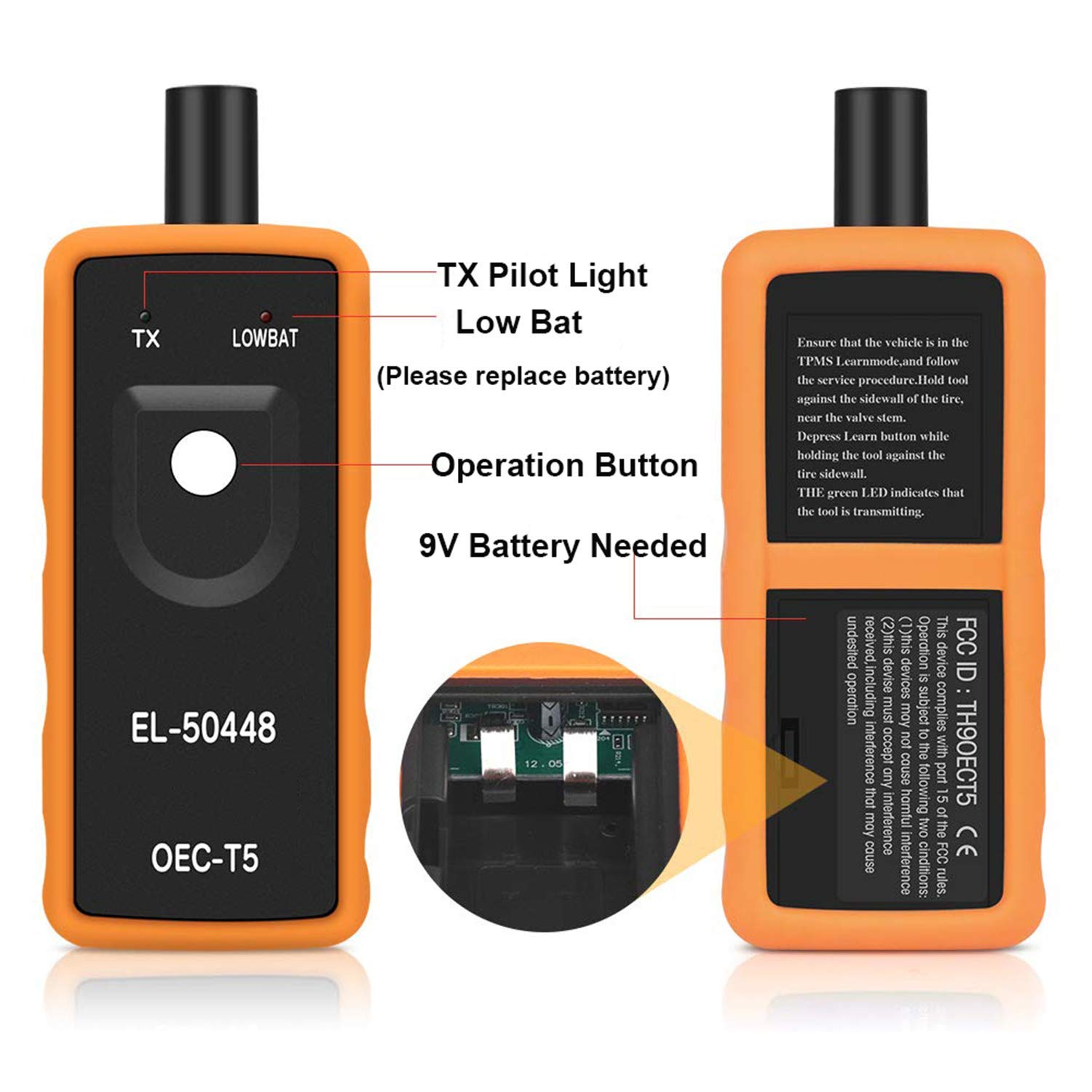 Ysding EL-50448 TPMS Relearn Reset Activation Tool Auto Tire Pressure Monitor Sensor Activation System OEC-T5 for GM Series Vehicle