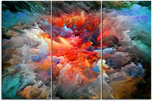4 Sizes Colorful Smoke Abstract CANVAS PRINT Home Wall Art Decor Giclee