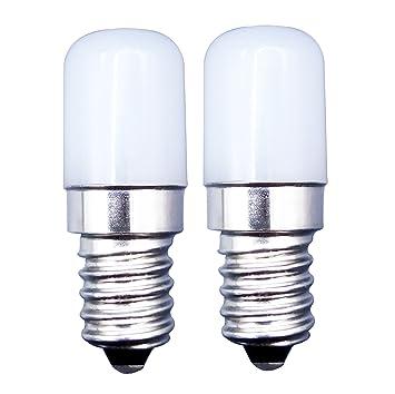 MZMing [2 Piezas] E14 Tornillos Pequeños LED Bulb 1.5W Bombillas Reemplaza 15W Bombilla