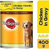Pedigree Chicken Chunks in Gravy, Wet Dog Food, Can, 24 x 400g