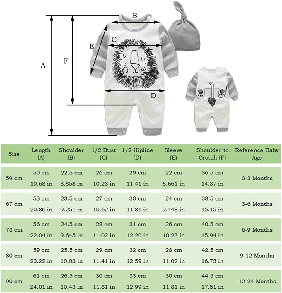 T TALENTBABY Toddler Newborn Baby Boy Girl Cotton Long Sleeve Onsises Sleepsuit Cute Solid Color Unisex Baby Romper Jumpsuit for 0-18 Months