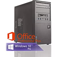 Ankermann Silent Office Business PC Intel i5 4570 4x3.20GHz HD Graphics 8GB RAM 240GB SSD 1TB HDD Windows 10 PRO Leise W-LAN Office Professional Plus 2016