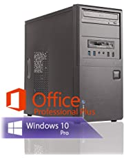 Ankermann Silent Office Business PC Intel i5 4570 4x3.20GHz HD Graphics 8GB RAM 240GB SSD 1TB HDD Windows 10 PRO Leise W-LAN Office Professional
