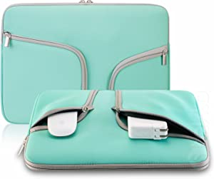 Steklo - Laptop Sleeve 13 inch Neoprene MacBook Sleeve Case - Perfect MacBook Sleeve Cover with Pockets for MacBook Pro 13 inch Sleeve and MacBook Air 13 inch Sleeve, Laptop Bag 13 inch - Teal
