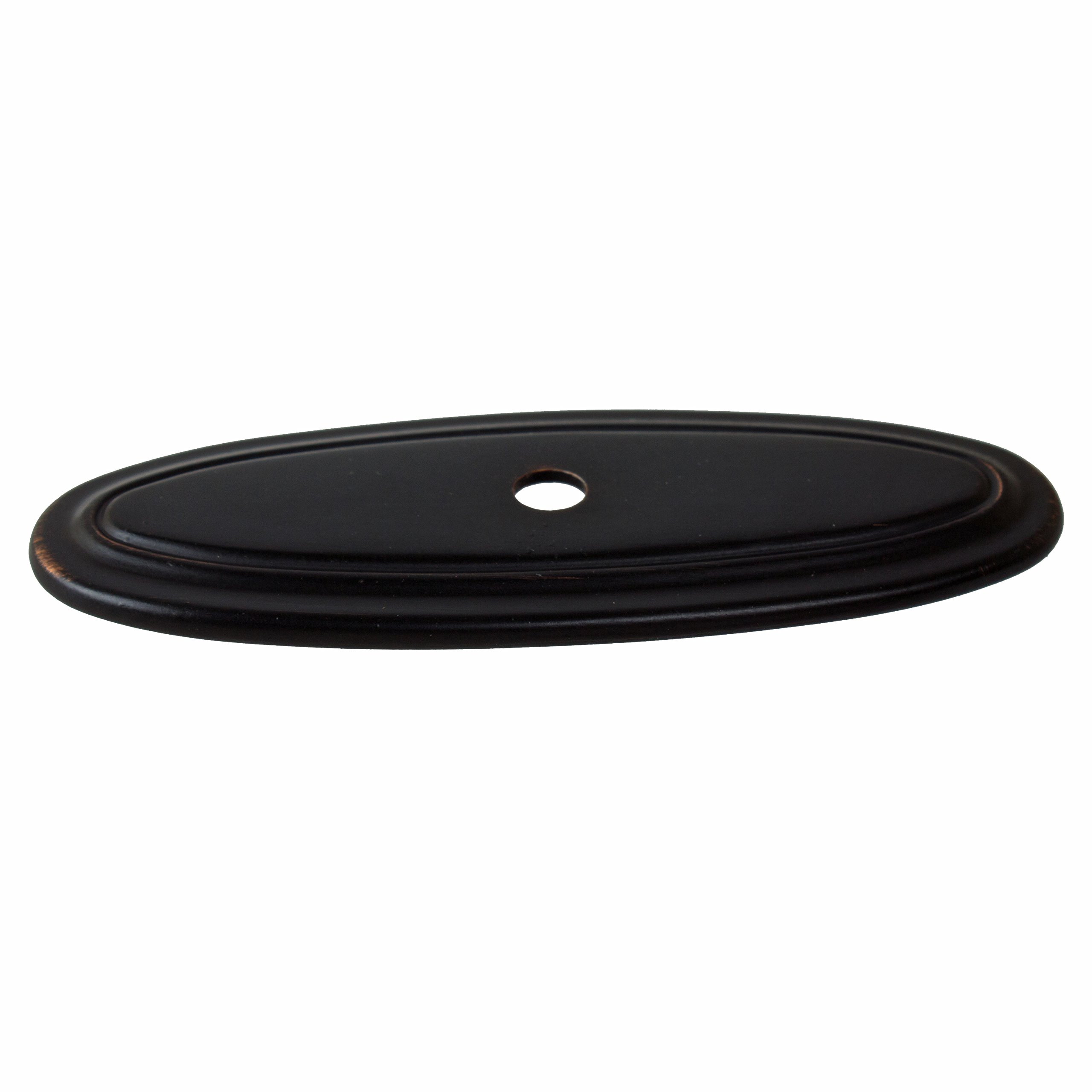 GlideRite Hardware 1034-ORB-50 Thin Oblong Ring Cabinet Back Plate, 50 Pack, 3'', Oil Rubbed Bronze by GlideRite Hardware (Image #2)