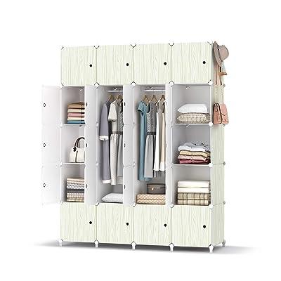Portable Closet Wardrobe Clothes Hanging Rack Storage Organizer Cupboard Cabinet