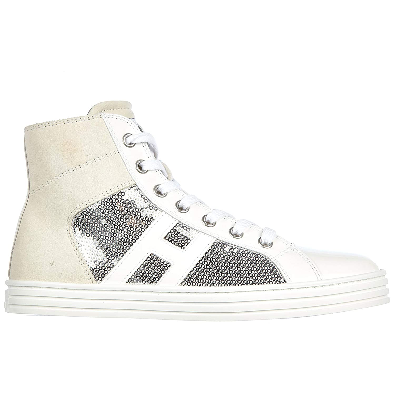 91f416f84b8e Hogan Baby R141 high top Sneakers Bianco White  Amazon.co.uk  Shoes   Bags
