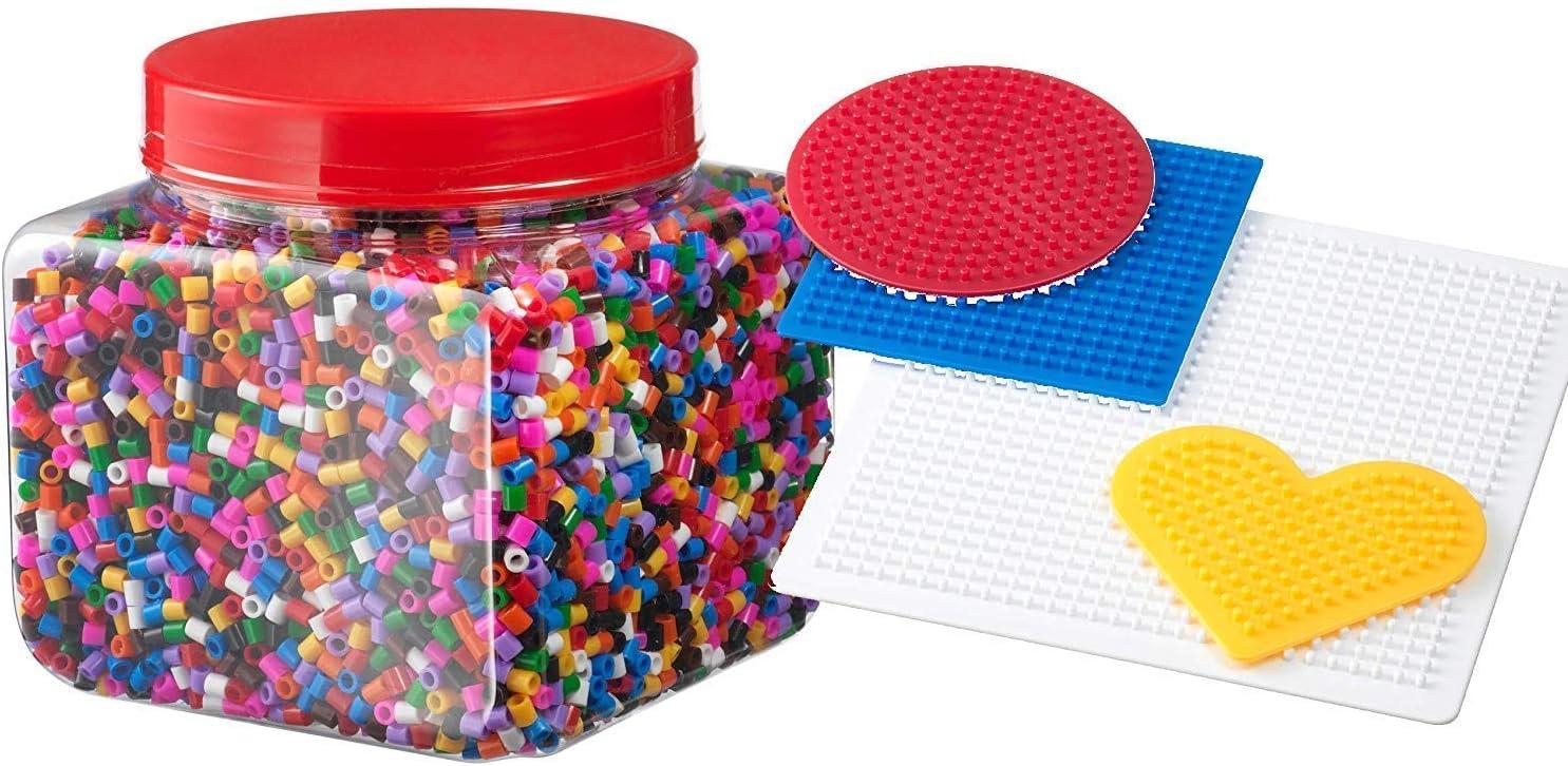 Ikea Pyssla - Juego de Perlas para Planchar (14.000 Cuentas, 4 Unidades), Multicolor: Amazon.es: Hogar