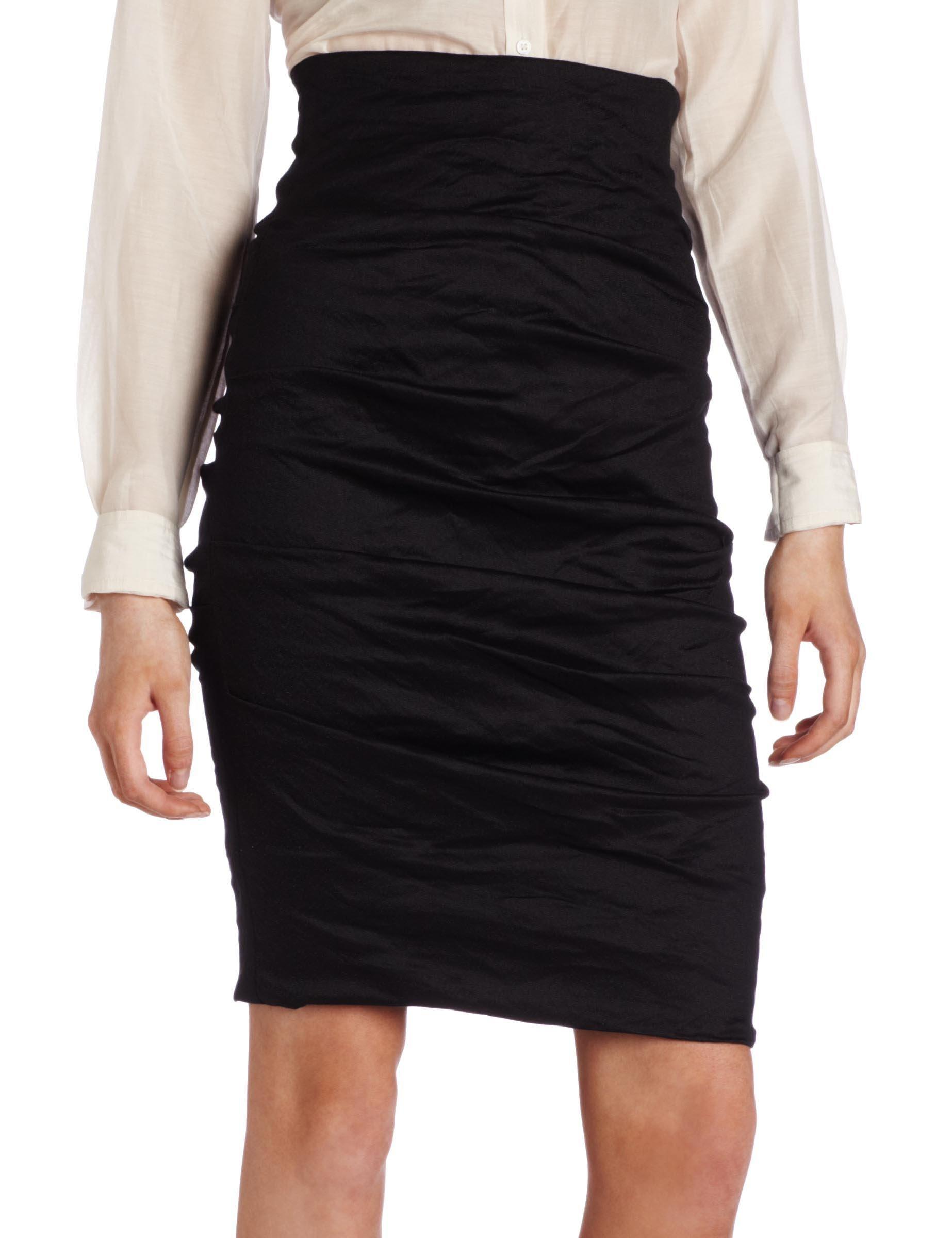 Nicole Miller Women's ''Sandy'' Cotton Metal Skirt Skirt, -black, 0