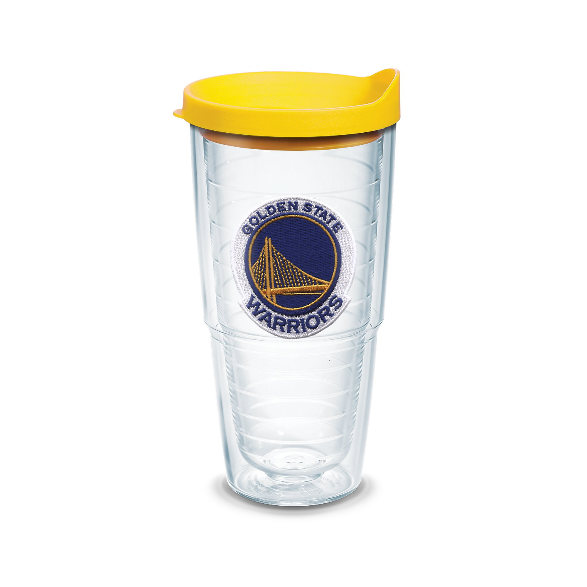 Tervis 1051629 NBA Golden State Warriors Primary Logo Tumbler with Emblem and Yellow Lid 24oz, Clear by Tervis