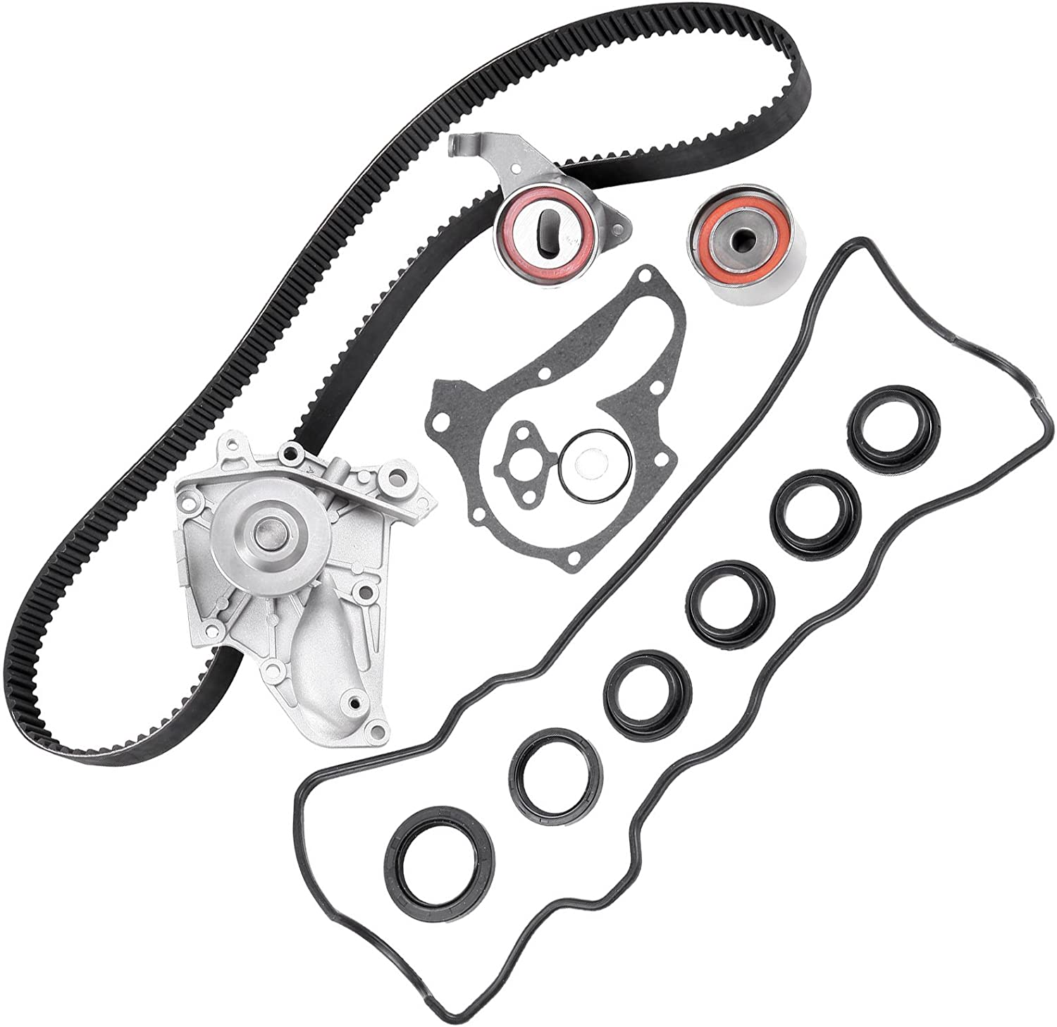 Timing Belt Kit including timing Belt water pump with gasket tensioner bearing etc,OCPTY Compatible for 94 95 96 97 98 99 00 01 Fit for LEXUS ES300