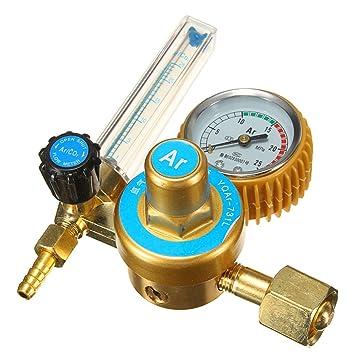 Lovinn Argon - Medidor de flujo regulador de soldadura de gas CO2 Mig Tig: Amazon.es: Hogar