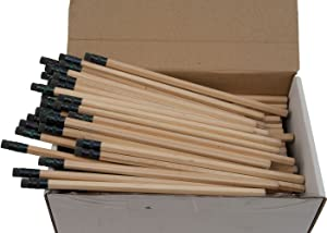 Hex Pencils (Full Size Hex Pencil with #2 Lead Available in a Variety of Colors) (Tested Non Toxic) (Latex Free Eraser) (Classroom Pencils) (Bulk Box of 144) (Natural Wood)