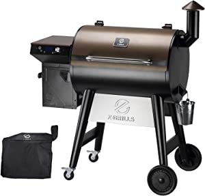 Z GRILLS 7002F 2021 Upgrade Wood Pellet Grill & Smoker for Outdoor Cooking, 8 in 1 BBQ Grill with Digital Controller, 694 Sq