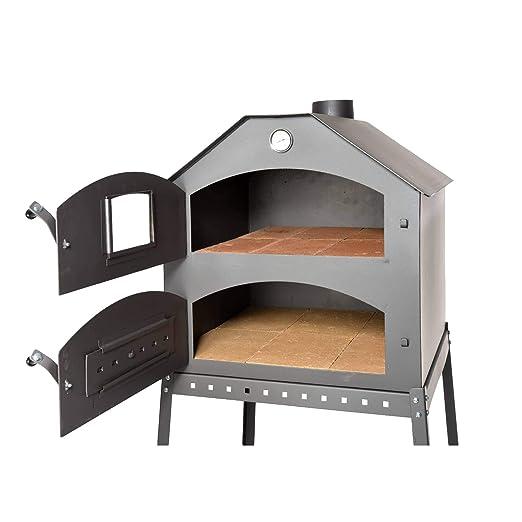 acerto 40504 Horno de pizza profesional para el jardín - 64x63x68 ...