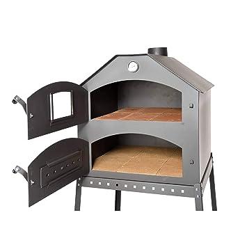 Acerto 40504 Profi Pizzaofen Für Den Garten 64x63x68 Cm Schamott