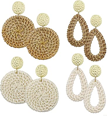 Handmade Straw Earrings