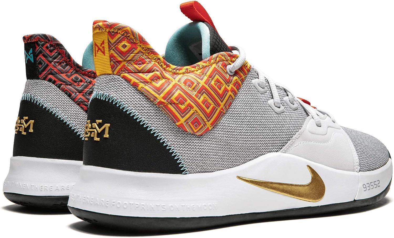 Nike PG 3 BHM Pure Platimum//Metallic Gold, 12