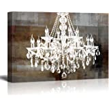 Amazon canvas wall art glam chandelier black and white graphic wall26 canvas wall art modern chandelier home decor 24 x 36 artwork aloadofball Gallery