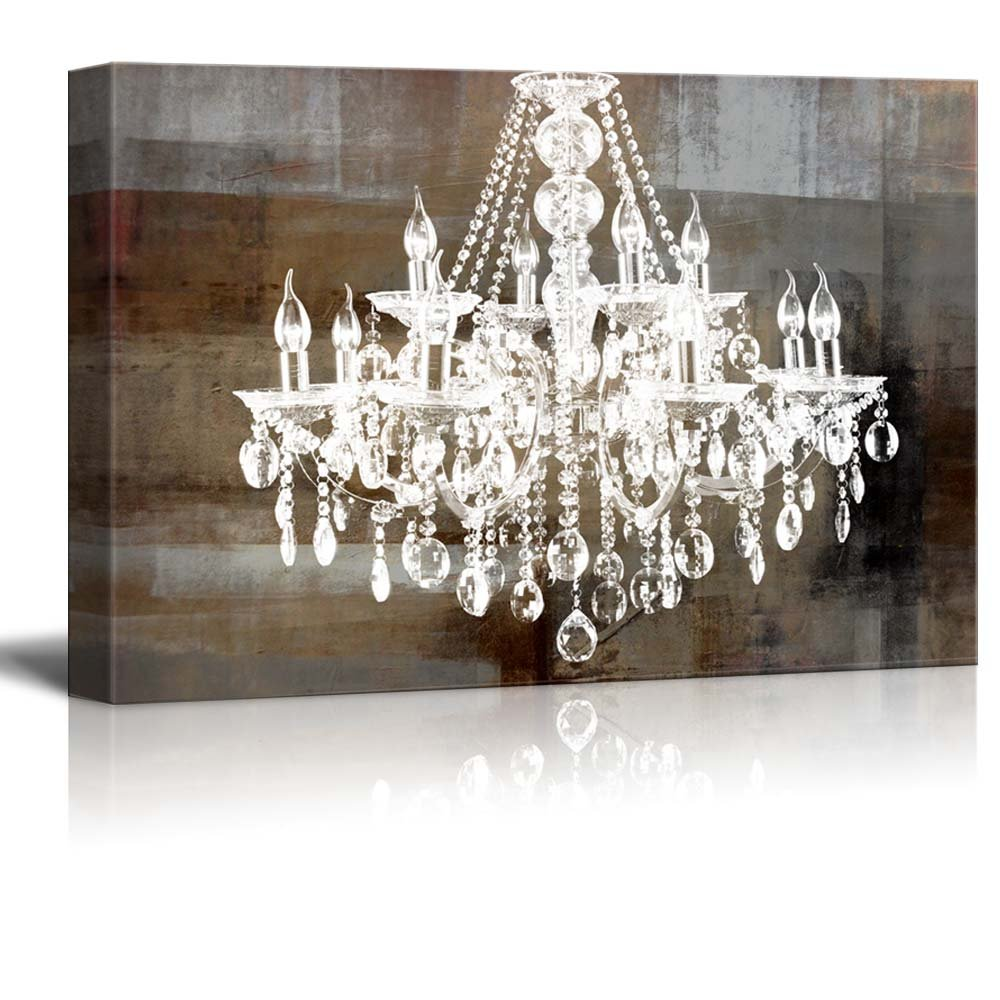 vintage click oyster expand to led art p lighted wall chandelier canvas