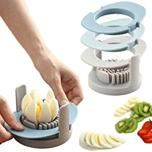Ruibo Strawberry Slicer/Cutter With Stainless Steel Cutting Wires for Hard Boiled Egg Slicer