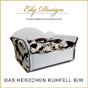 Perro sofá cama para perros Corazones L Vaca Marrón imitación EDY Diseño Mano Made: Amazon.es: Productos para mascotas