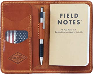 product image for Personalized Leather Field Notes Wallet, Field Notes Cover, Moleskine Cover, Passport Wallet, Handmade in Arizona