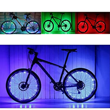 Waterproof 20 LED Light Strips Lamp Safety Bicycle Wheel Lights ...