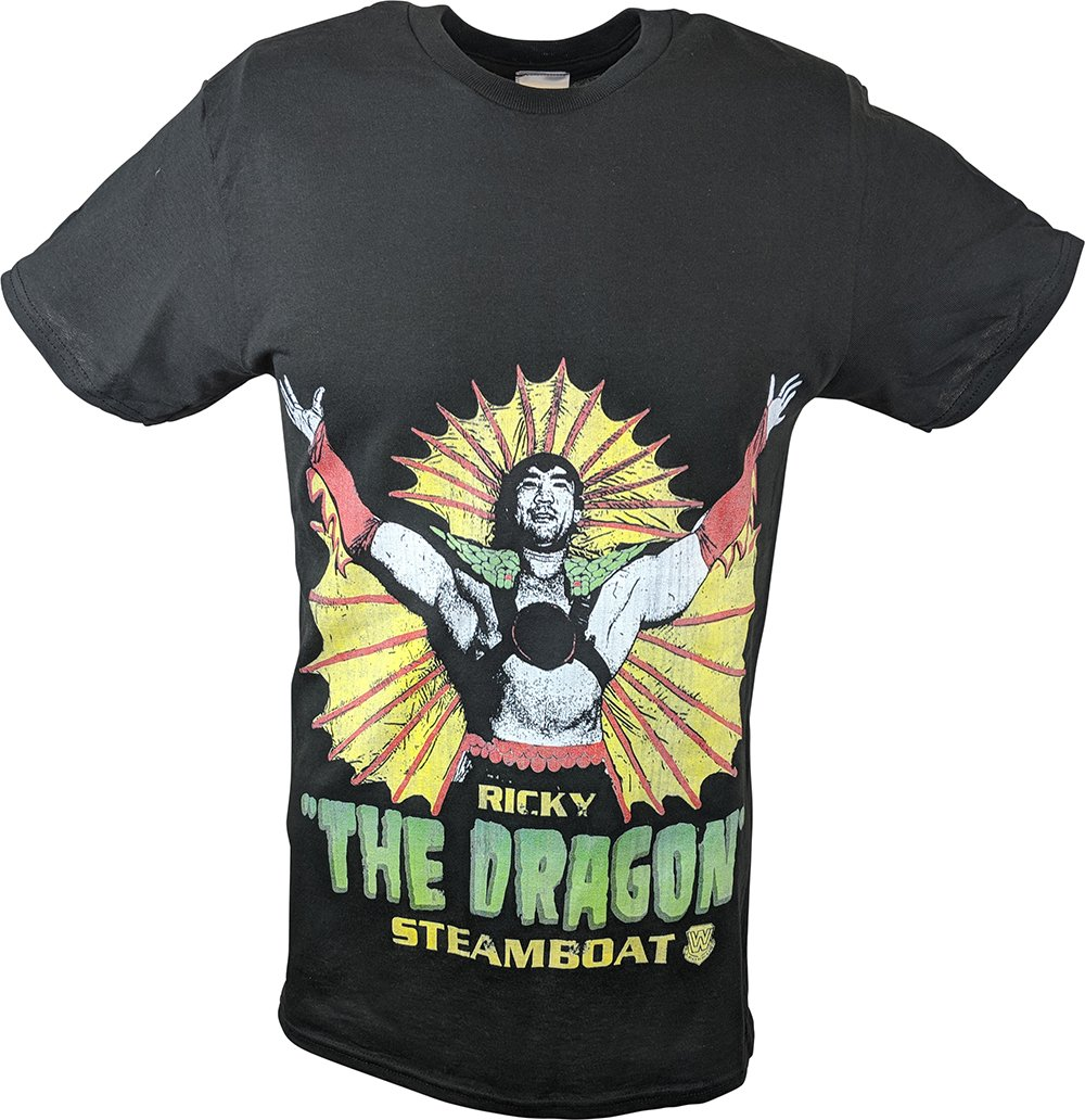 Freeze The Dragon Ricky Steamboat WWE Legend Mens Black T-Shirt 3XL