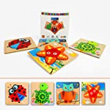 aghi Toddler Puzzles,Wooden Animal Jigsaw Puzzles for 1 2 3 Year Old Boys Girls Baby Infant Kid Learning Educational 4…