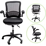 "Sleekform Office Desk Chair | Ergonomic Mid-back Swivel Task Chair with Lumbar Support | Height Adjustable Seat & Arms | Breathable Mesh Back | 2-1 Synchro Tilt Control | 4.3"" Soft Memory Foam Cushion"
