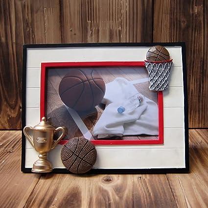 JHXK Marcos de Fotos Marco de Fotos Vintage Baloncesto Photo Frame/Recuerdo/Manualidades/