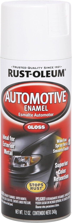 Rust-Oleum 252468 Automotive Rust Preventive Enamel Spray Paint, Aerosol, 8-10 Sq-Ft/Can, 12 oz, Gloss White