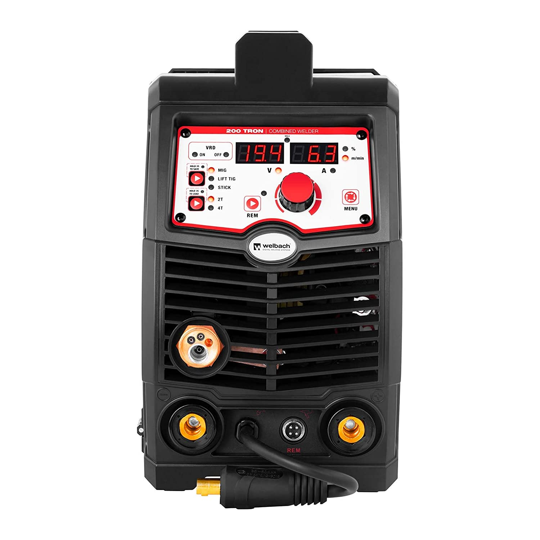 Welbach Soldadora Multiproceso Máquina De Soldadura Multifunción TRON 200 (TIG - MIG/MAG - MMA - FCAW, 230 V / 200 A, Digital, 2 y 4 Tiempos): Amazon.es: ...