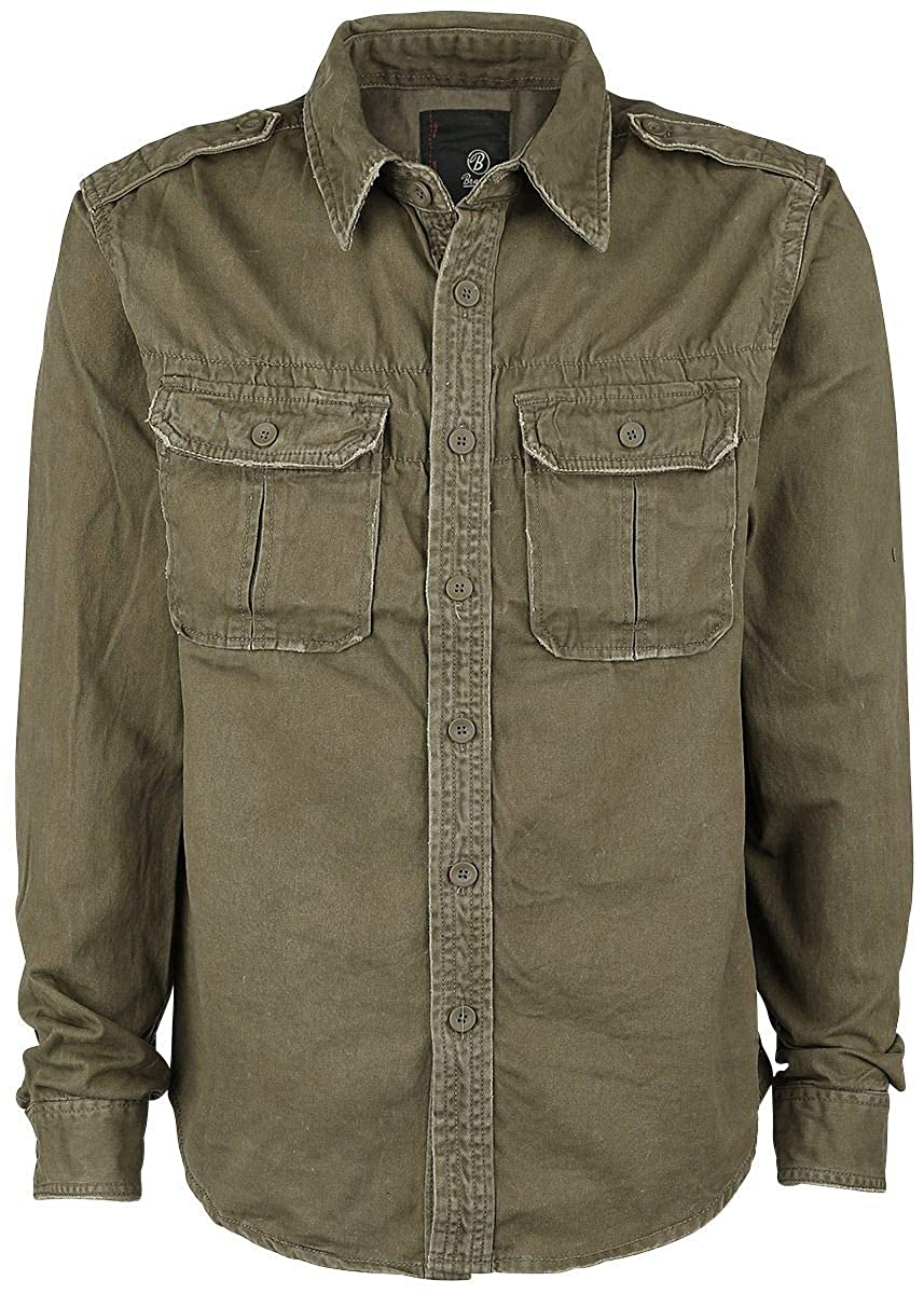 TALLA S. Brandit Men's Langarmhemd Vintage