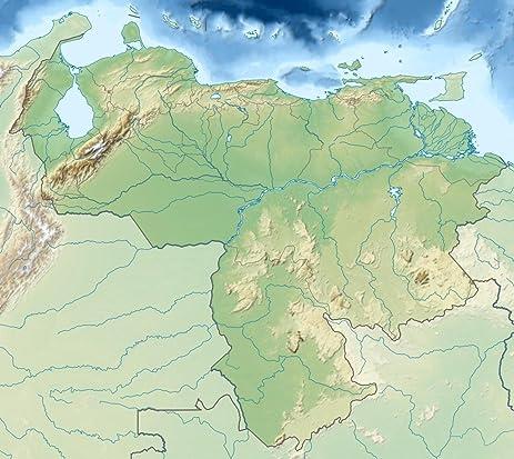 Amazoncom LAMINATED 23x20 Poster Venezuela relief location map