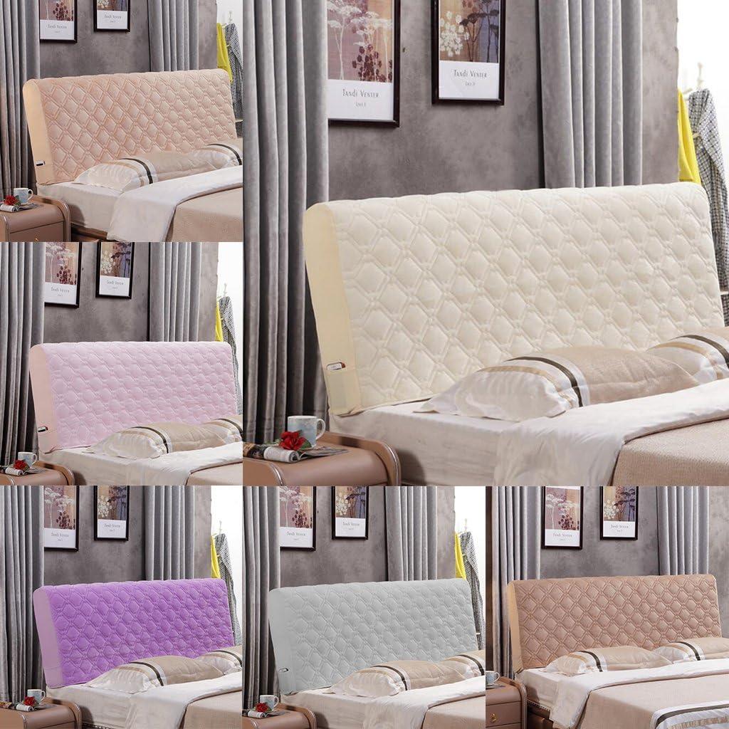 Auswahl Beige FLAMEER Bett Kopfteil Bettkopfteil Bezug Hussen zum Staubschutz